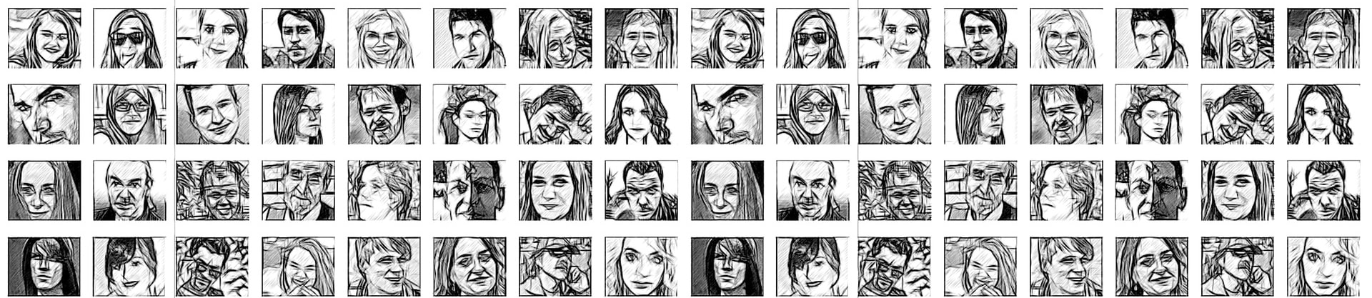 sketched portraits montage for Meet the Professors